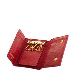 Porta-Chaves-Chanel-Caviar-Vermelho