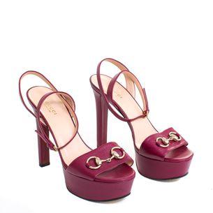 Sandalia-Gucci-Couro-Rosa