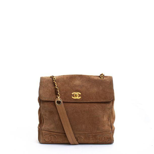 Bolsa-Chanel-Camurca-Caramelo