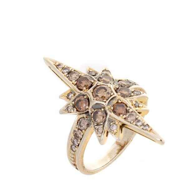 Anel-H.Stern-Stars-Medio-Ouro-Nobre-e-Diamantes-Cognac
