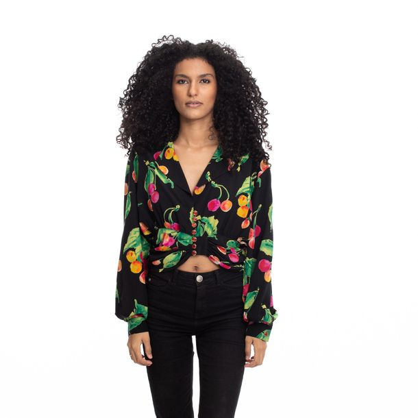 Camisa-Preta-Frutas-Vintage
