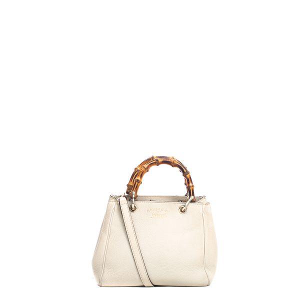 Mini-Bolsa-Gucci-Bamboo-Shopper-Creme