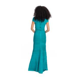 Vestido-Herve-Leger-Azul-Longo