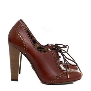 Sapato-Oxford-de-Salto-Dolce---Gabbana-Couro-Marrom