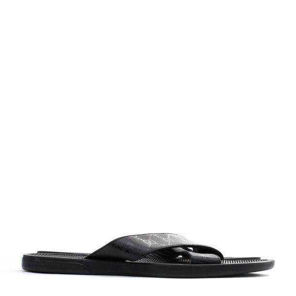 Sandalia-Slide-Gucci-Masculina-Preta-GG