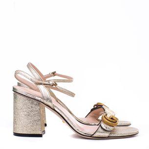 Sandalia-Gucci-Marmont-Dourada