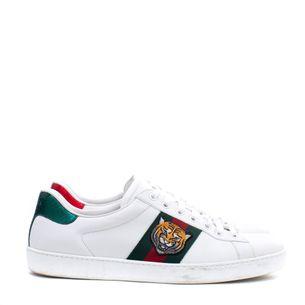 Tenis-Gucci-Web-Accent-Leather-Sneakers-Tigre