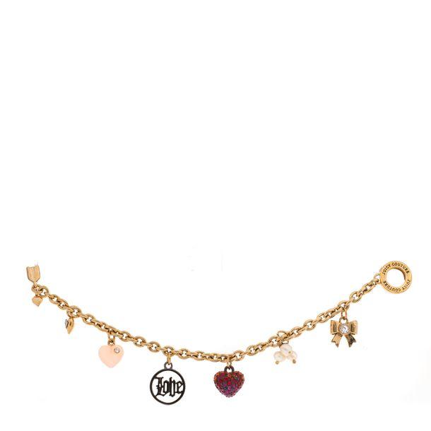 Bracelete-Juicy-Couture-Dourada-com-Pingentes-Pequenos-Diversos