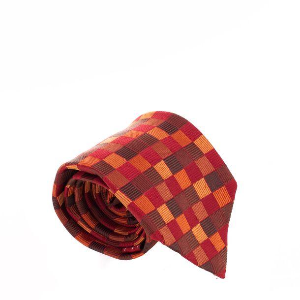 Gravata-Salvatore-Ferragamo-Estampa-Quadriculada-Vermelha