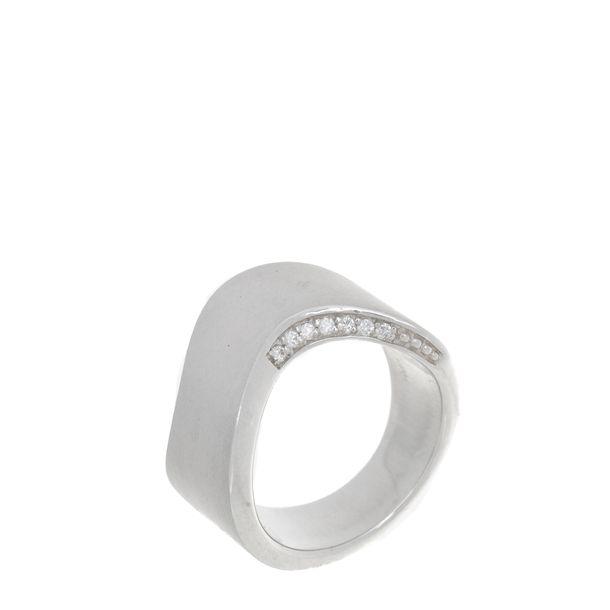 Anel-H.Stern-Prata-925-Com-Diamantes-Colecao-Roberto-Burle-Marx