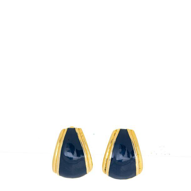 Brinco-de-pressao-trapezio-grande-azul-marinho-e-dourado-Vintage
