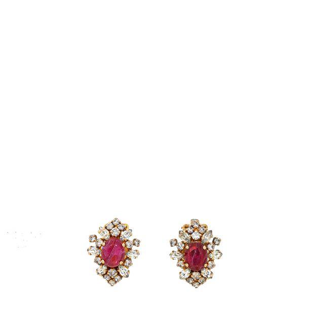 Brinco-de-pressao-medio-dourado-strass-e-rosa-Vintage