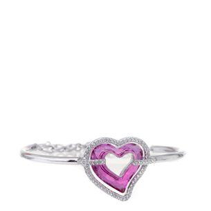 Bracelete-Swarovski-coracao-prata-e-rosa