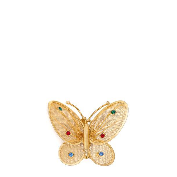 Broche-borboleta-tela-e-strass-colorido