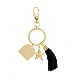 Chaveiro-Givenchy-Dourado-e-Preto