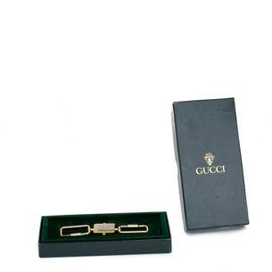 Chaveiro-duplo-Gucci-Vintage-Dourado