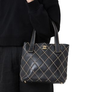 Bolsa-Chanel-Stitch-Surpique-Preta
