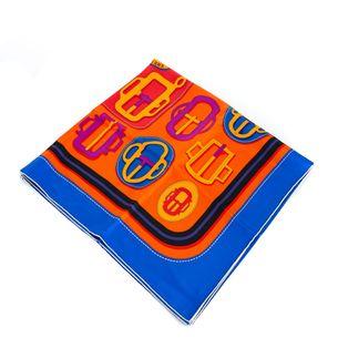 Lenco-Hermes-Estampado-Laranja-e-Azul