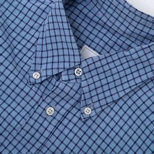 Camisa-Ermenegildo-Zegna-Quadriculado-Azul