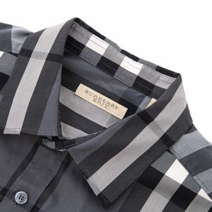 Camisa-Burberry-Estampa-Xadrez-Cinza
