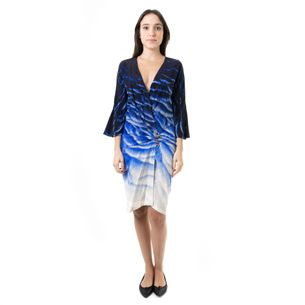 Vestido-Roberto-Cavalli-Azul-Estampado-Cobra