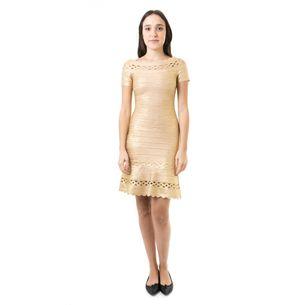 Vestido-Herve-Leger-Bandagem-Dourada