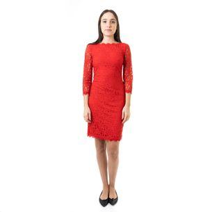 Vestido-Diane-Von-Furstenberg-Renda-Vermelha