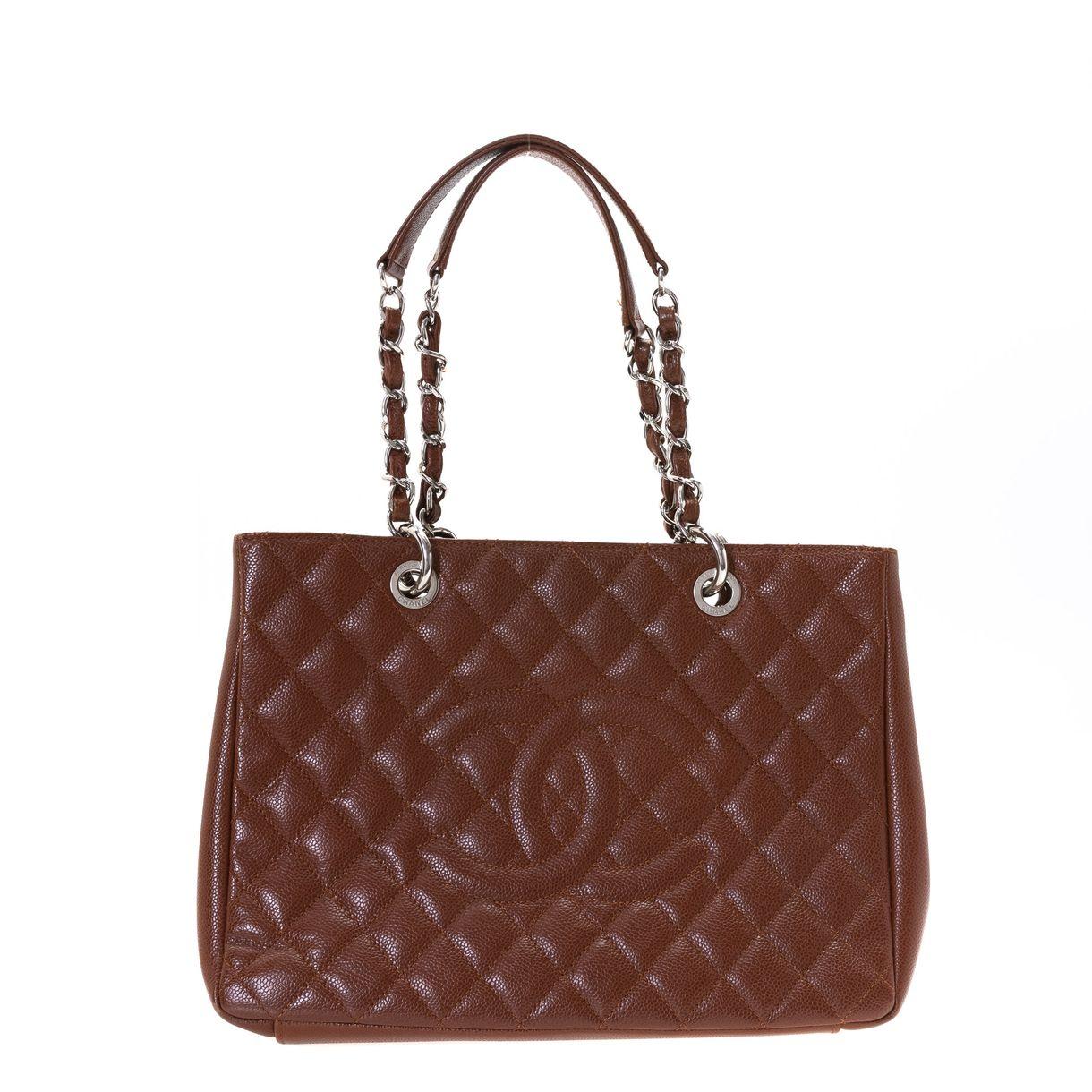 Bolsa-Chanel-Shopper-Caviar-Marrom