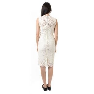 Vestido-Dolce---Gabbana-Creme-Renda