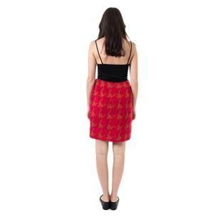 Saia-Chanel-Vintage-Tweed-Vermelha