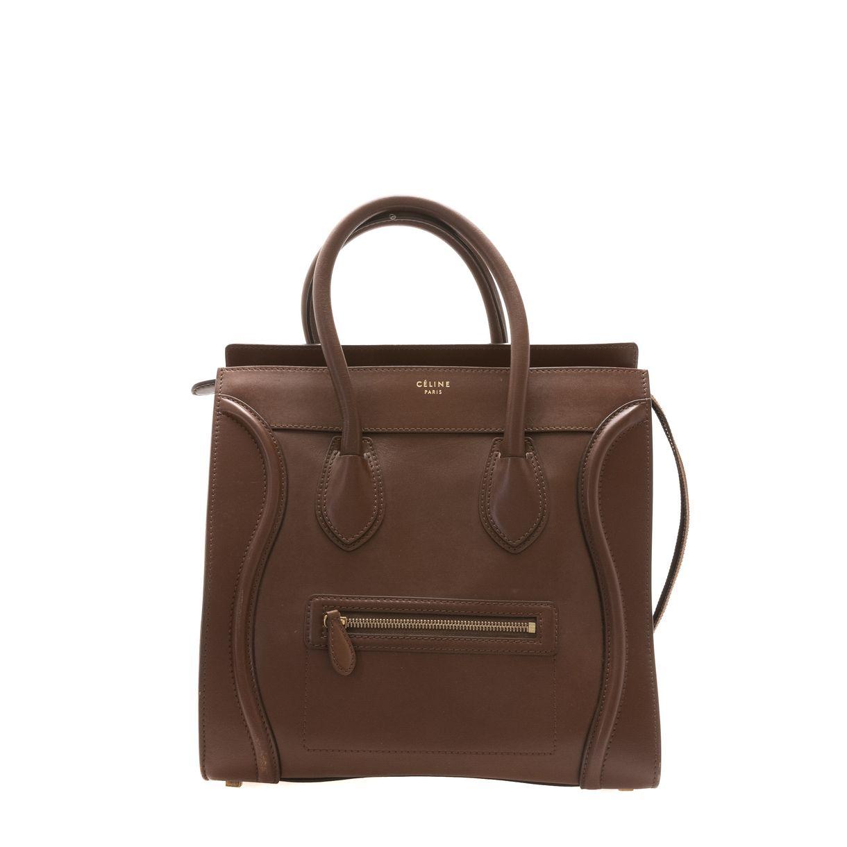 Bolsa-Celine-Luggage-Tote-Marrom