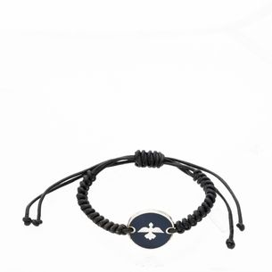 Pulseira-Guerreiro-Couro-Macrame-Azul-Marinho