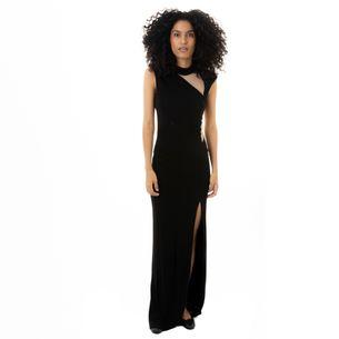 Vestido-ABS-by-Allen-Schwartz-Jersey-Longo-Preto-Recortes