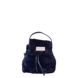 Mochila-Swarovski-Faux-Fur-Azul-Marinho