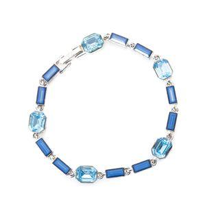 Pulseira-Givenchy-Prateada-Pedras-Azul-Clara