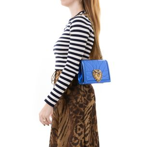 Bolsa-Dolce---Gabbana-Devotion-Azul-Metalico