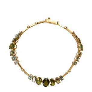 Pulseira-Articulada-Ouro-Amarelo-Turmalinas-Verdes-Naturais-e-Brilhantes
