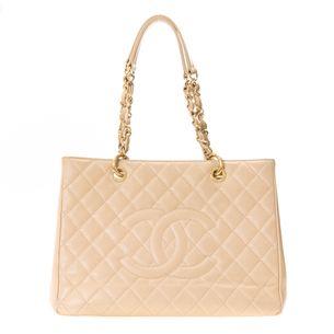 Bolsa-Shopper-Chanel-Bege