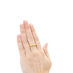 Anel-Ouro-Rose-Ceramica-Amarela-e-Brilhante