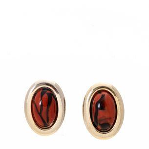 Brinco-Vintage-de-Pressao-Oval-Dourado-Pedra-Laranja