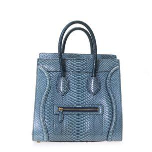 Bolsa-Luggage-Tote-Celine-Escamas-Azul