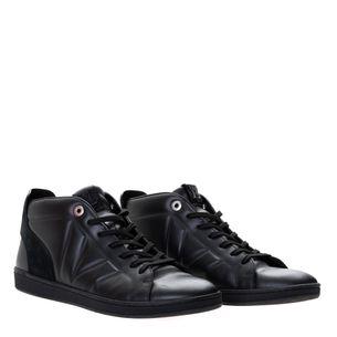 Sapato-Cano-Medio-Louis-Vuitton-Couro-Preto