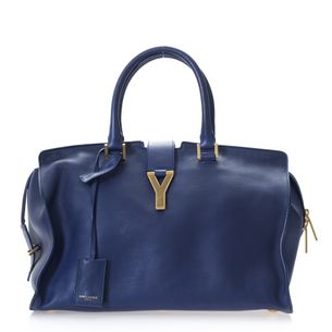 Bolsa-YSL-Classic-Y-Cabas-Couro-Azul