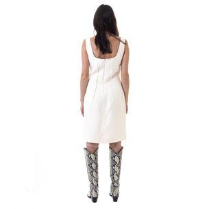 Vestido-Christian-Dior-Off-White