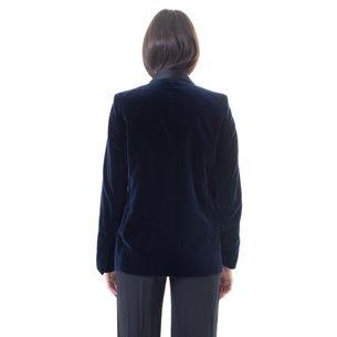 Blazer-Stella-McCartney-Veludo-Azul-Marinho