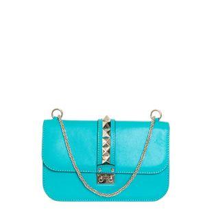 Bolsa-Valentino-Glam-Lock-Couro-Azul-Turquesa