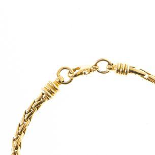 Pulseira-Vintage-Dourada-Correntes-Entrelacadas