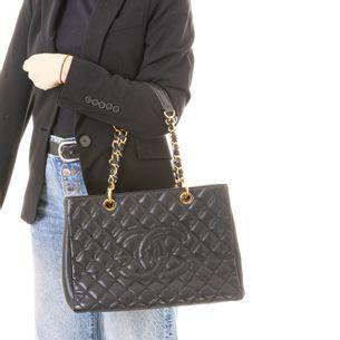 Bolsa-Shopper-Caviar-Chanel-Couro-Preto