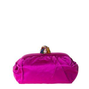 Clutch-Dolce---Gabbana-Cetim-Rosa