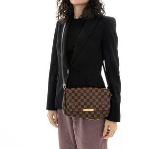 Bolsa-Louis-Vuitton-Favorite-Damier-Ebene